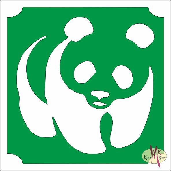 5x5 cm-es Csillámtetoválás sablon - Panda - Csillámtetoválás ... 1ed52ea40f
