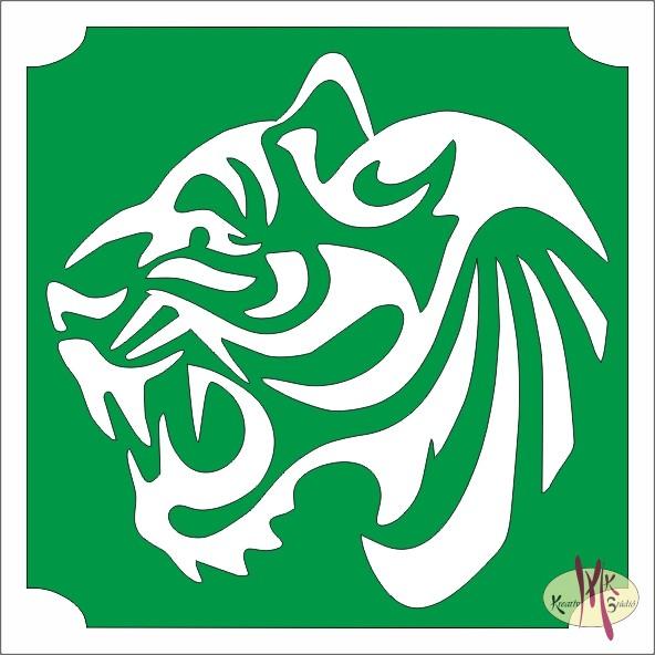 5x5 cm-es Csillám tetoválás sablon - Tigris 459 - Csillámtetoválás ... afa636b69a