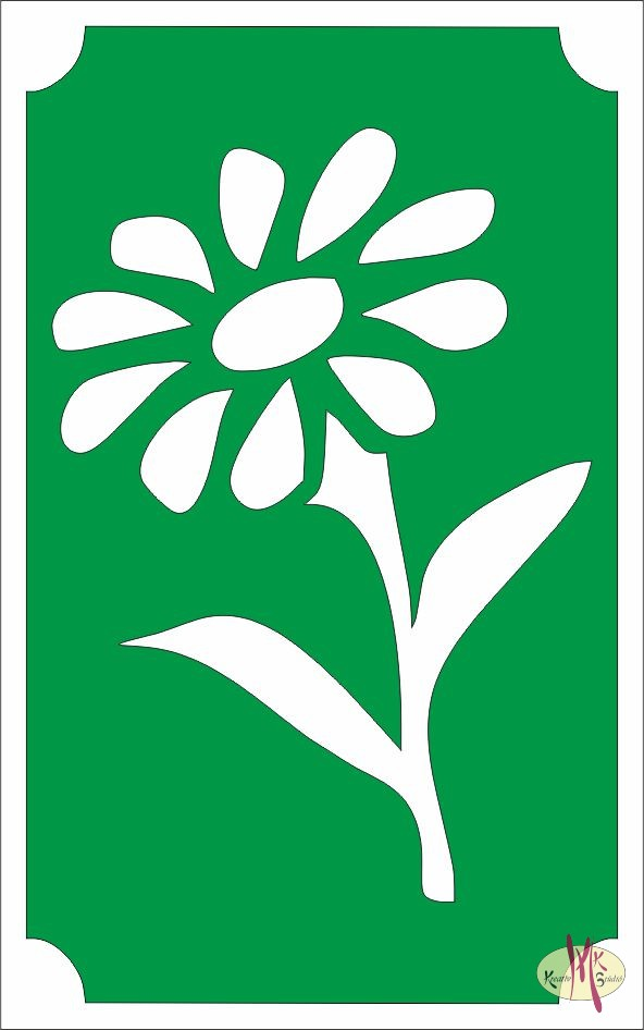 8x5 cm-es Csillámtetoválás sablon - Virág 61 - Csillámtetoválás ... fa6dbbd8fa