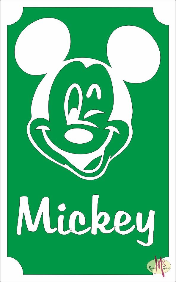 bd870b8eb2 8x5 cm-es Csillámtetoválás sablon - Mickey mouse - Csillámtetoválás ...