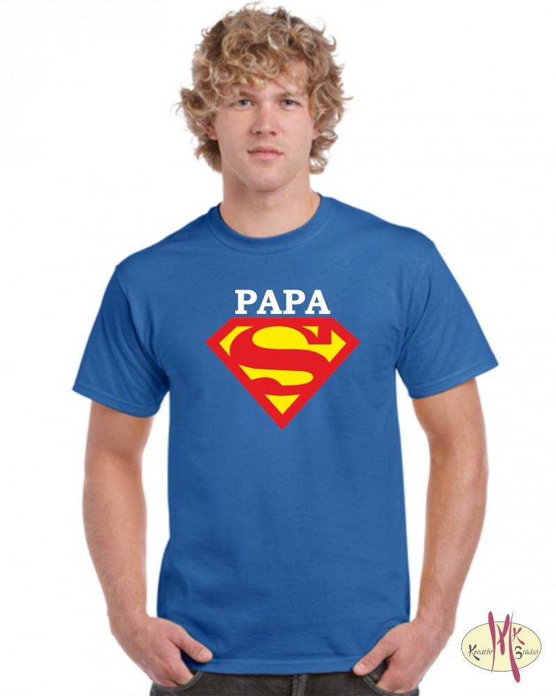 Kereknyakú Póló - Superman Papa - Csillámtetoválás 666e263f72