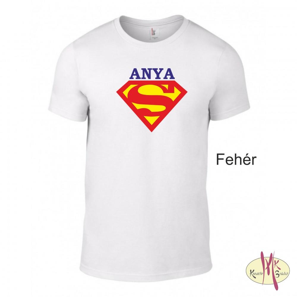 8de911602b Kereknyakú Póló - Supergirl Anya - Csillámtetoválás, arcfesték ...