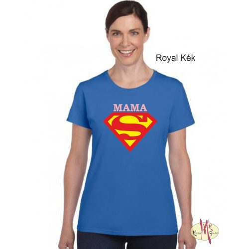 Kereknyakú Póló - Supergirl Mama 23fae9b481